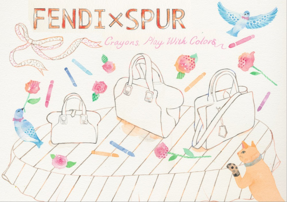 FENDI×SPUR  coloring card