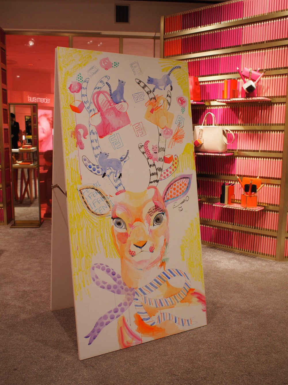 FENDI×SPUR Live painting at ISETAN SHINJUKU